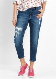 Girlfriend-Jeans, 7/8 - designt von Maite Kelly, bpc bonprix collection, blue stone