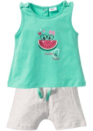 Baby Top + Shorts (2-tlg.) Bio-Baumwolle, bpc bonprix collection