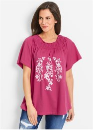 T-shirt Carmen - designed by Maite Kelly, bpc bonprix collection, fuchsia moyen/blanc imprimé