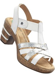 Sandalette in G-Weite, bpc selection, weiss/silber