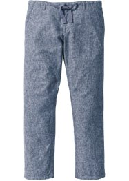 Leinen-Baumwollmix-Hose Regular fit, bpc selection, dunkelblau/weiss meliert