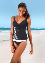 Tankini (2-tlg. Set), bpc bonprix collection, schwarz/weiß
