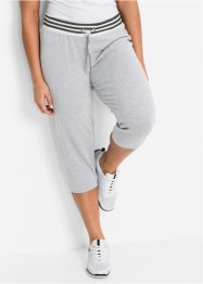 Pantalon jogging longueur 3/4, bpc bonprix collection, gris clair chiné