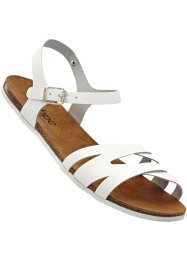 Sandales en cuir, bpc bonprix collection, blanc