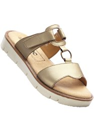 Lederpantolette, bpc bonprix collection, gold