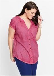 Cold-dye-Bluse mit Kurzarm, bpc bonprix collection