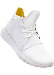 Sneakers, bpc bonprix collection, blanc/jaune citron