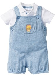 Baby Poloshirt + Latzhose (2-tlg. Set) Bio-Baumwolle, bpc bonprix collection