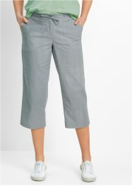 3/4-Leinenhose, bpc bonprix collection, silbergrau