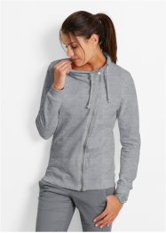 Gilet sweat-shirt, bpc bonprix collection, gris clair chiné