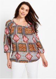 Blouse-tunique, bpc bonprix collection, blanc imprimé
