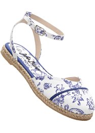 Espadrille, bpc bonprix collection, weiss/saphirblau