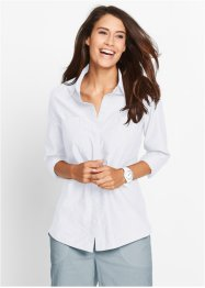 Langarm-Bluse, bpc bonprix collection, weiss