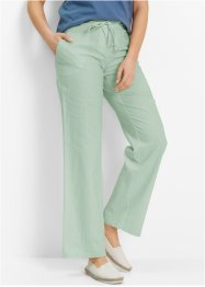Pantalon en lin, bpc bonprix collection, roseau clair