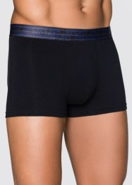 Boxer (3er-Pack), bpc bonprix collection, azurblau/schwarz