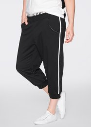 Pantalon jogging longueur 3/4, bpc bonprix collection, noir