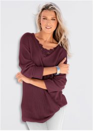 Long-Pullover mit Spitze, bpc selection