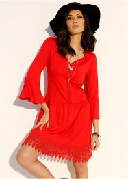 Robe boho avec application, BODYFLIRT, rouge