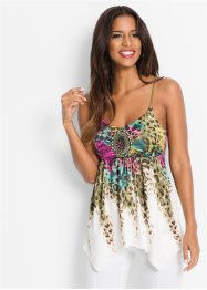 Top multicolore à bretelles spaghetti, BODYFLIRT boutique