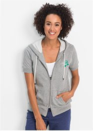 Sweatjacke mit kurzen Ärmeln, bpc bonprix collection
