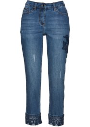 Premium 7/8-Stretchjeans mit Spitzenapplikation, bpc selection premium