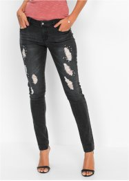 Stretch-Jeans mit Glitzersteinchen, BODYFLIRT