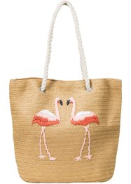 Strohtasche Flamingo, bpc bonprix collection