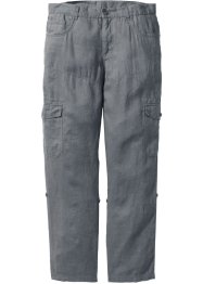 Pantalon cargo en lin retroussable Regular Fit, bpc bonprix collection