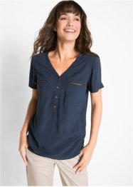 Blouse en viscose manches courtes, bpc bonprix collection