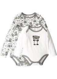 Baby Langarmbody (3er-Pack) Bio-Baumwolle, bpc bonprix collection