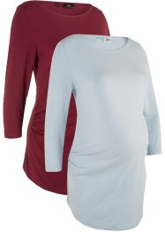 Umstandsshirt, U-Neck (Doppelpack in Bio-Baumwolle), bpc bonprix collection