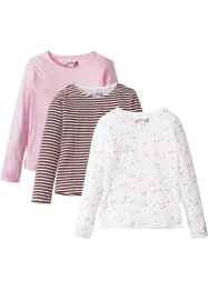 Lot de 3 T-shirts manches longues, bpc bonprix collection