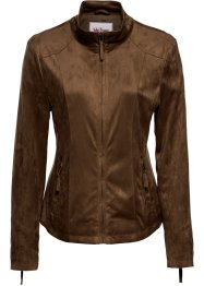 Veste en synthétique imitation cuir velours, John Baner JEANSWEAR