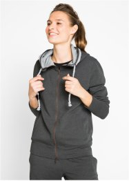 Langarm-Sweatjacke mit Stickerei, bpc bonprix collection
