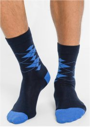 Socken mit Rautenmuster (5er-Pack), bpc bonprix collection