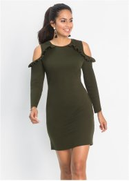 Cold-shoulder Jerseykleid, BODYFLIRT