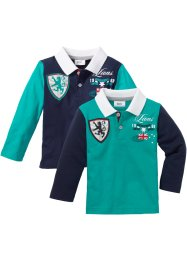 Baby Poloshirt Langarm (2er-Pack) Bio-Baumwolle, bpc bonprix collection