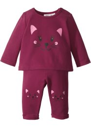 Sweat-shirt bébé + pantalon sweat (Ens. 2 pces.) en coton bio, bpc bonprix collection