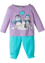 Baby Langarmshirt + Jerseyhose (2-tlg. Set) Bio-Baumwolle, bpc bonprix collection