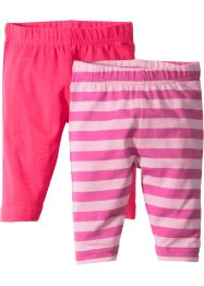 Lot de 2 leggings bébé en coton bio, bpc bonprix collection