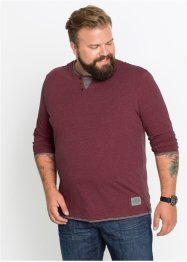 Langarmshirt in Doppeloptik Regular Fit, John Baner JEANSWEAR