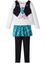 Shirt + Rock + Leggings (3-tlg. Set), bpc bonprix collection