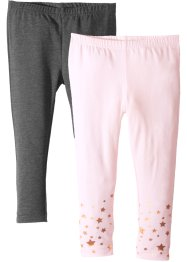 Lot de 2 leggings avec motifs brillants, bpc bonprix collection
