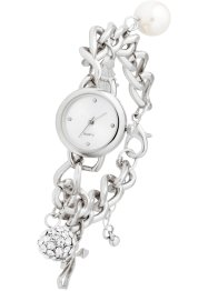 Armbanduhr mit Charms-Anhänger, bpc bonprix collection