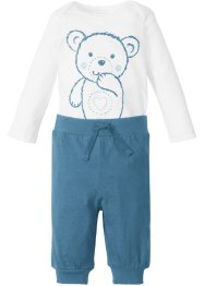 Body bébé à manches longues + pantalon jersey (Ens. 2 pces.) en coton bio, bpc bonprix collection