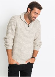 Troyer-Pullover meliert, Regular Fit, bpc selection