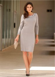 Premium Strickkleid mit Perlenapplikation, bpc selection premium