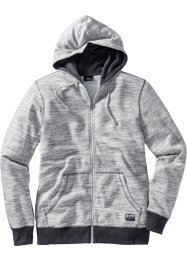 Melierte Sweatjacke mit Kapuze, bpc bonprix collection