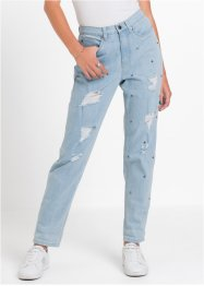 Mom-Jeans mit Nieten und Destroyed-Effekten, RAINBOW