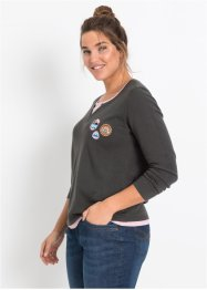 Pull style 2en1 à manches longues, John Baner JEANSWEAR